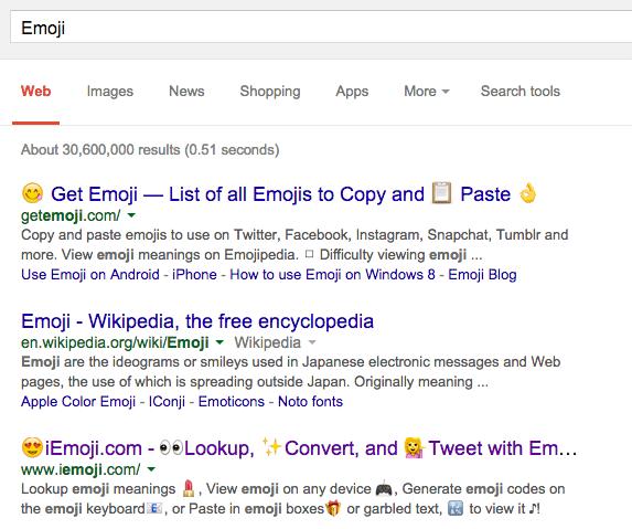 emoticones google resultados busquedas 2015