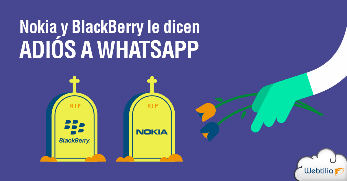 Whatsapp da tiro de gracia a Nokia y Blackberry