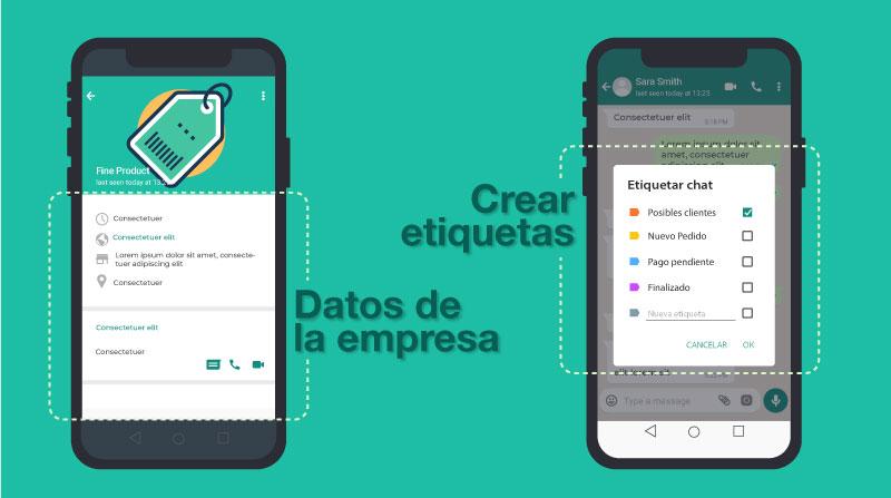 datos de la empresa en whatsapp business